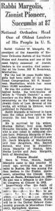 Margolis Gavriel Zev Brooklyn Eagle of Sep 9 1935