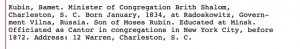 Rubin Chaim Dov bio